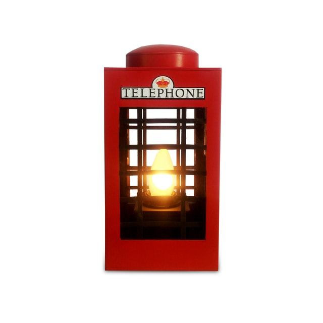 SONJA LAMP Telephone Box - Red