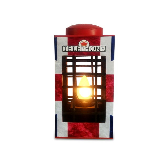 Sonja Lamp Telephone Box Lamp- Union Jack
