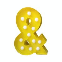 Sonja Lamp Ampersand Lamp Yellow