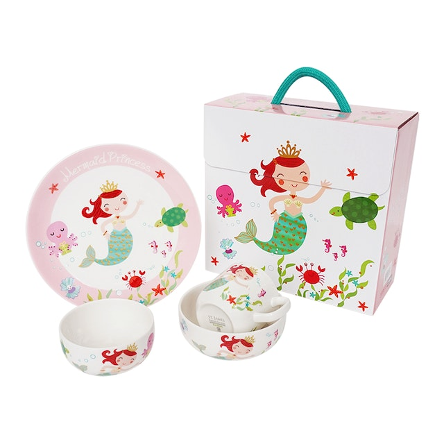 Saint James Premium Tableware Mermaid Princess Kid Set 4pcs