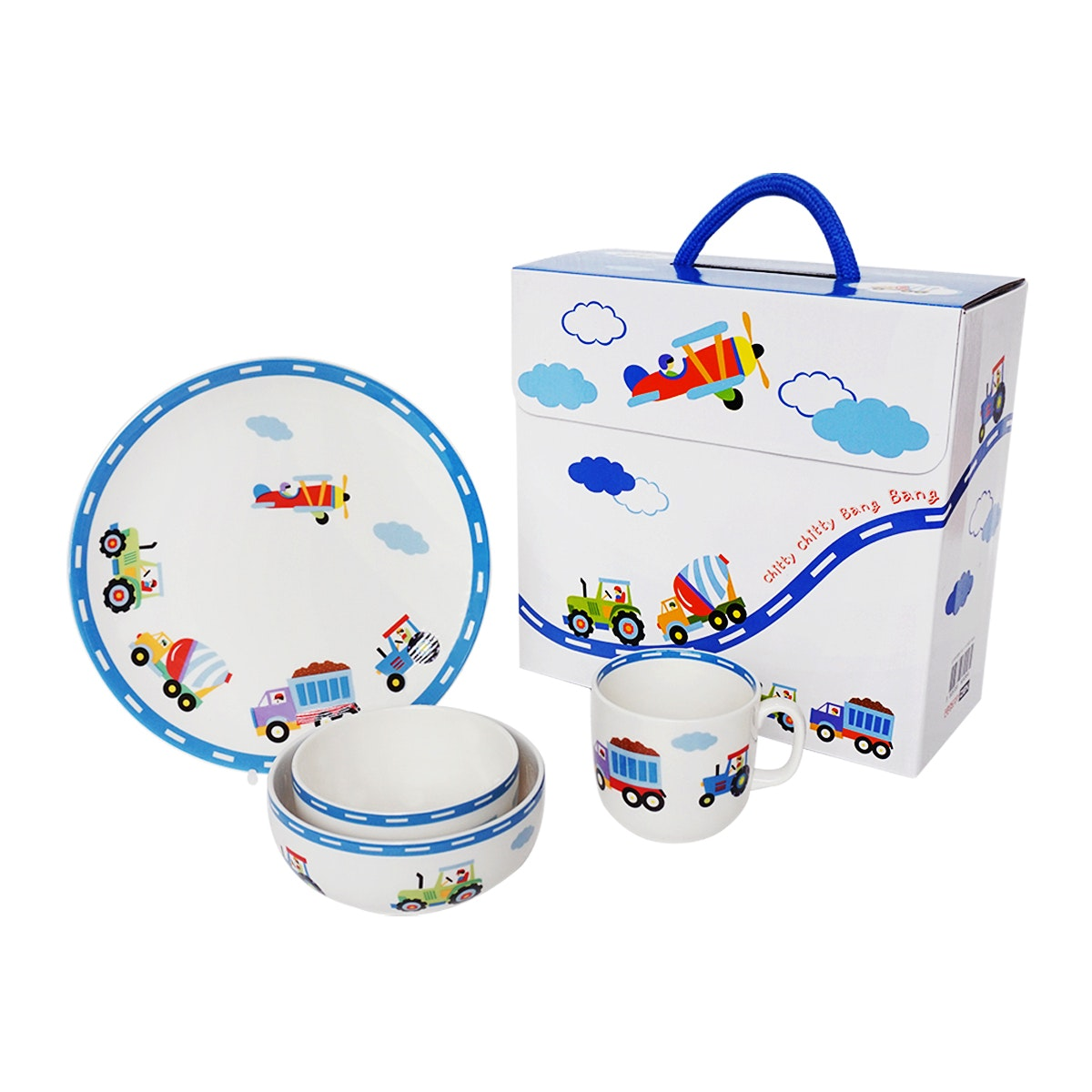 Saint James Premium Tableware Twitty Twitty Pang Pang Kid Set 4pcs
