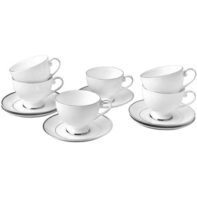 Saint James Premium Tableware Cameo Platinum Coffee Set 12pcs