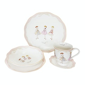 Saint James Premium Tableware Lovely Girl Pink (Friends) Single Set 5pcs