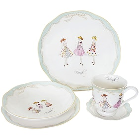 Saint James Premium Tableware Lovely Girl Blue (Friends) Single Set 5pcs