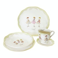 Saint James Premium Tableware Lovely Girl Green (Friends) Single Set 5pcs