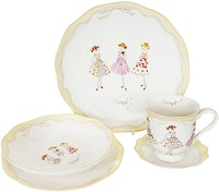 Saint James Premium Tableware Lovely Girl Yellow (Friends) Single Set 5pcs
