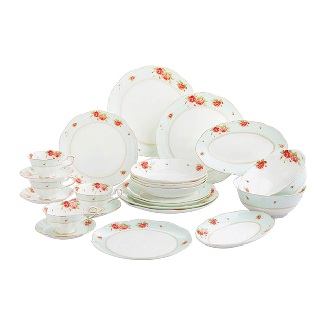 Saint James Premium Tableware The Rose Dinning Set 24pcs