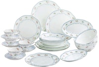 Saint James Premium Tableware Linen Flower Dinner Set 24pcs