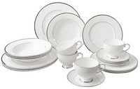 Saint James Premium Tableware Cameo Platinum Dinner Set 20pcs