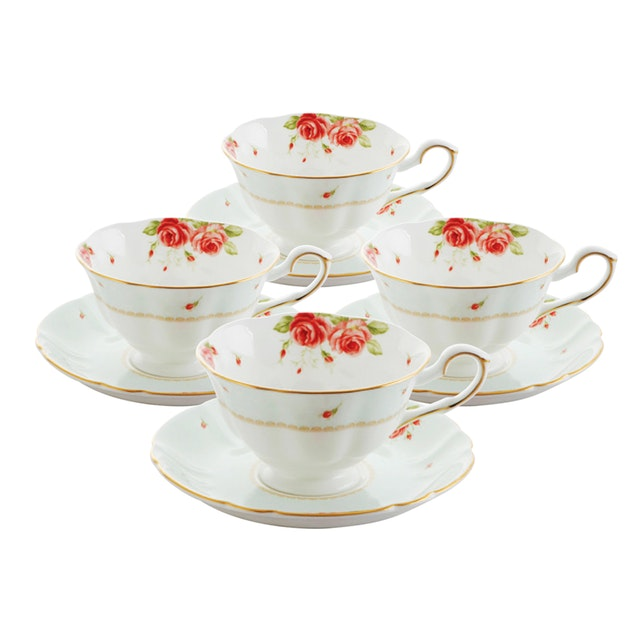 Saint James Premium Tableware The Rose Coffee Set 8pcs