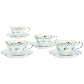 Saint James Premium Tableware Linen Flower Coffee Set 8pcs