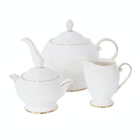 Saint James Premium Tableware Cameo Gold Tea Set 5pcs