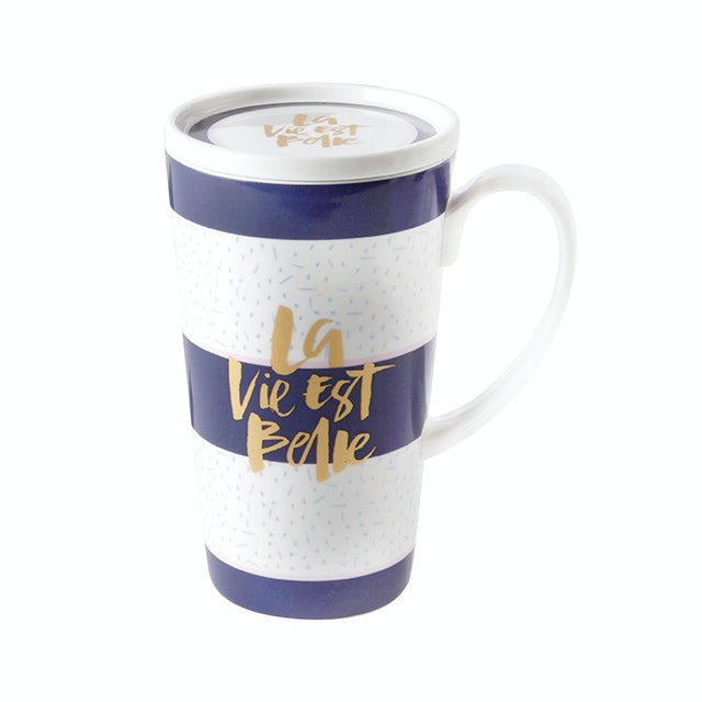 Saint James Premium Tableware La Vie Est Belle Jumbo Mug Set 2pcs