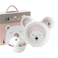 Saint James Premium Tableware Hello Hello Pink Kid Set 3pcs