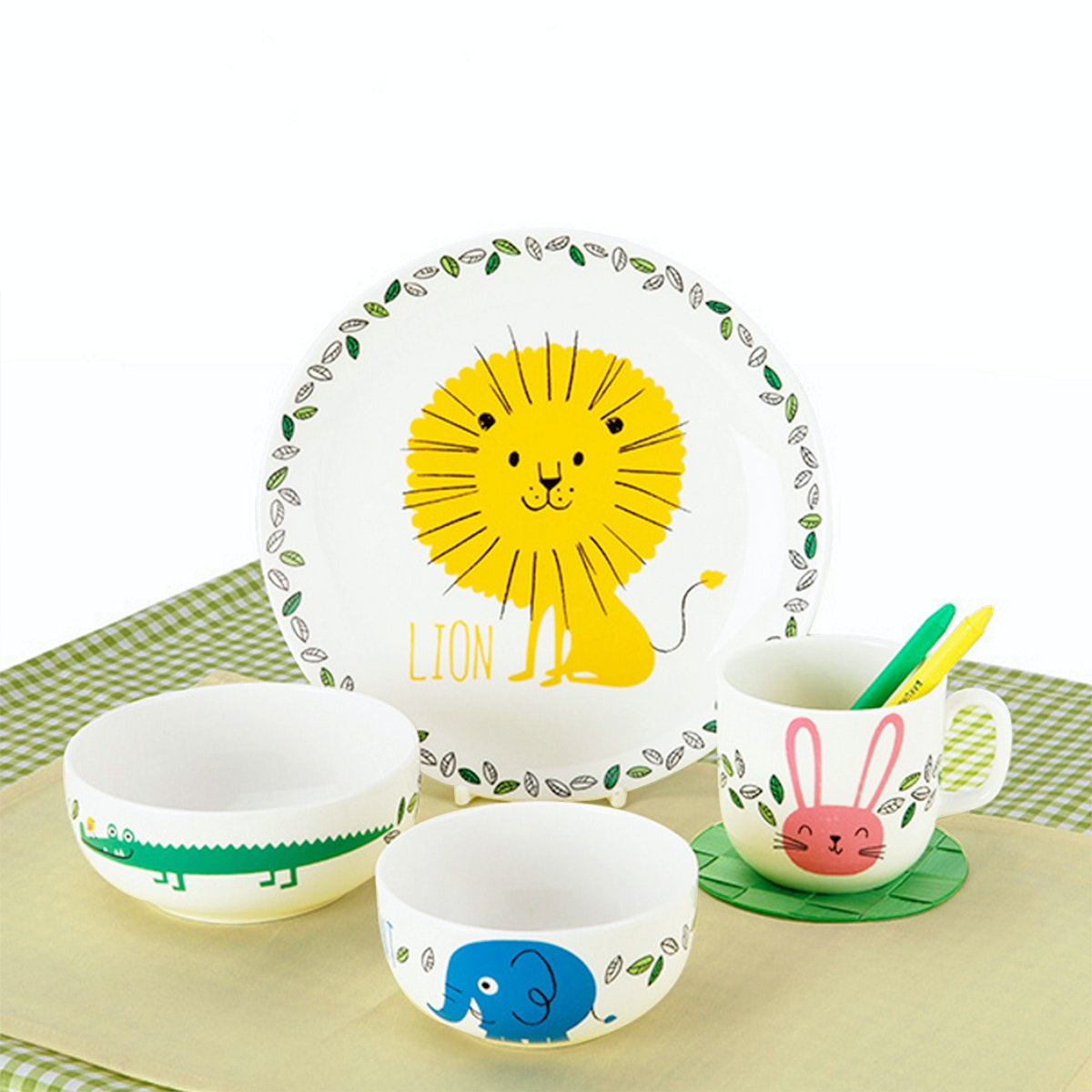Saint James Premium Tableware Jungle Animal Kid Set 4pcs