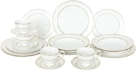 Saint James Premium Tableware Marrakesh White Gold Dinner Set 20pcs
