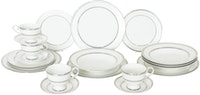 Saint James Premium Tableware Marrakesh White Platinum Dinner Set 20pcs
