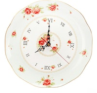 Saint James Premium Tableware The Rose Clock Plate