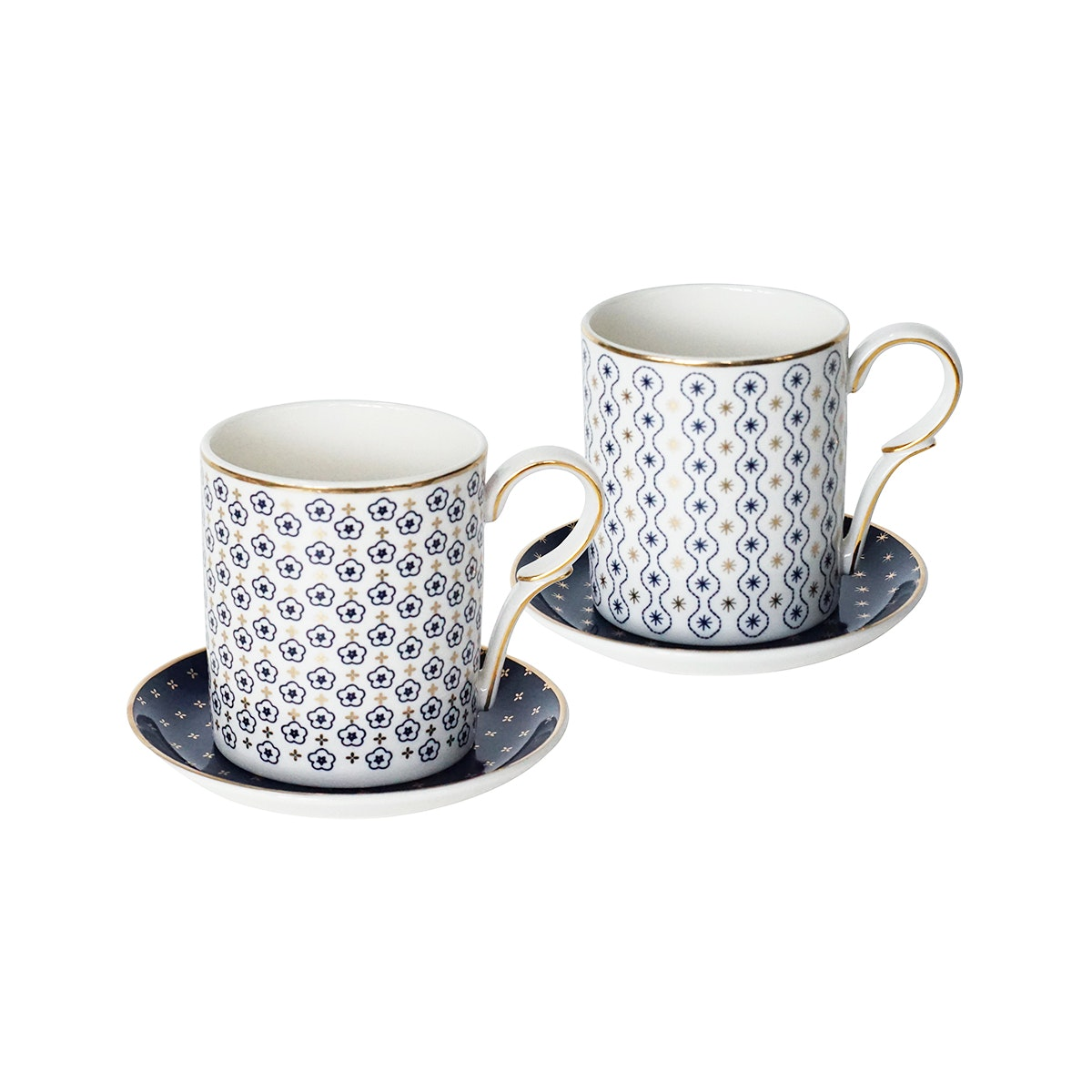 Saint James Premium Tableware Mr & Mrs Blue Mug Set 4pcs