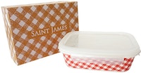 Saint James Premium Tableware Caramel Red 7 1/4 Rect Box Zen & Lock