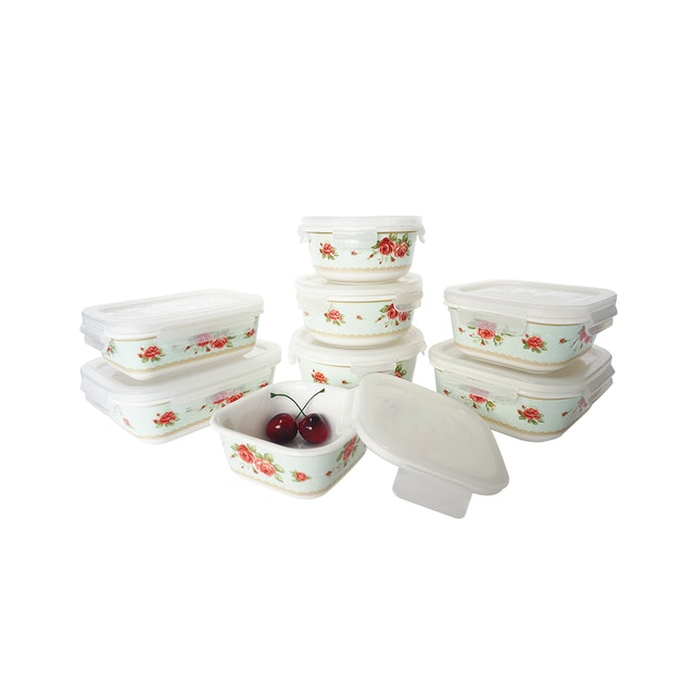 Saint James Premium Tableware The Rose Mix 16pcs Zen & Lock