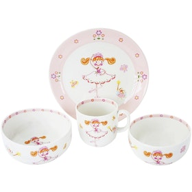 Saint James Premium Tableware Pink Ballerina Kid Set 4pcs