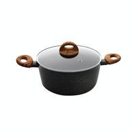 Living Zen By Saint James Alesund IH 24cm Aluminium Two Handle Pot 1 Set (Black)