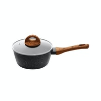 Living Zen By Saint James Alesund IH 18cm Aluminium One Handle Pot 1 Set (Black)