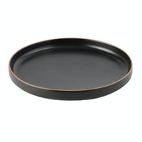 Saint James Premium Tableware 20 cm Plate Two Way Black Glaze