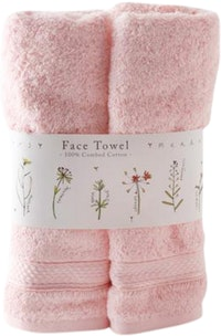Saint James Premium Tableware Meadow Flower Light Pink Face Towel Set 2 pcs