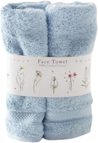 Saint James Premium Tableware Meadow Flower Blue Face Towel Set 2 pcs