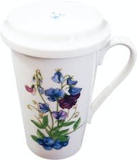 Saint James Premium Tableware Eco Mug with HDL/Cov Zen Accessory Tea Flower Butterfly Peach Blueberry