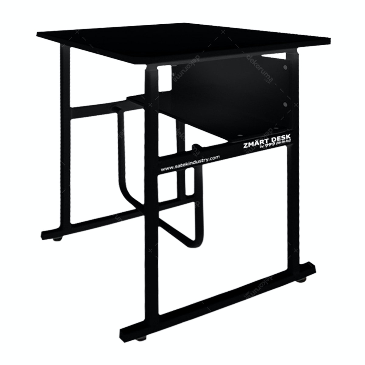 Zmart Desk Kinesthetic Standing-Sitting Desk Hitam