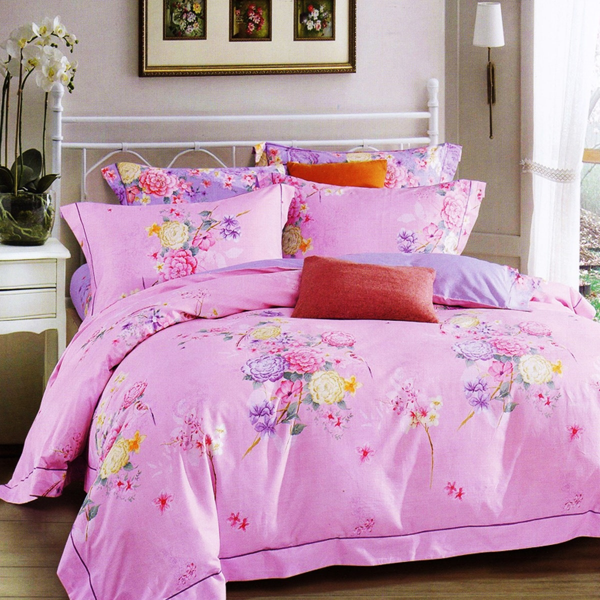 Sleep Buddy Set Sprei dan Bed Cover Sweetest Flower Cotton Sateen 160x200x30