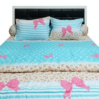 Sleep Buddy Set Sprei dan Bed Cover Callista Tosca CVC 180x200x30
