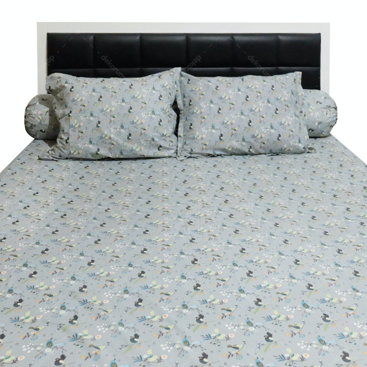 Sleep Buddy Set Sprei Morning Tweet Grey CVC 160x200x30