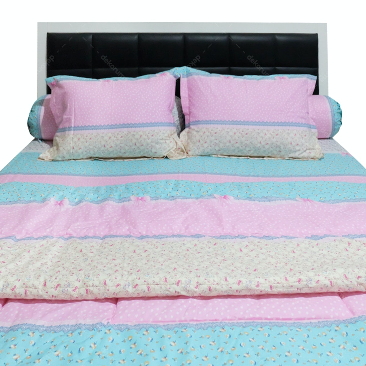 Sleep Buddy Set Sprei dan Bed Cover Pevita CVC 160x200x30
