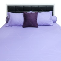 Sleep Buddy Set Sprei Plain Purple CVC 160x200x30