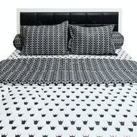 Sleep Buddy Set Sprei dan Bed Cover Queen CVC 180x200x30