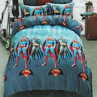 Sleep Buddy Set Sprei Super Hero Sutra Aloe Vera 180x200x30