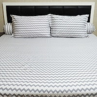 Sleep Buddy Set Sprei Baby Chevron Grey CVC 120x200x30