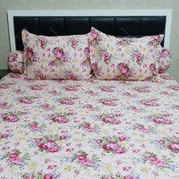 Sleep Buddy Set Sprei Pink Mary CVC 160x200x30