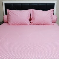 Sleep Buddy Set Sprei Polka Pink CVC 120x200x30