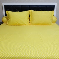 Sleep Buddy Set Sprei Polka Yellow CVC 120x200x30