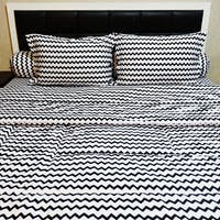 Sleep Buddy Set Sprei Dan Bed Cover Baby Retro Black Cvc 180X200X30