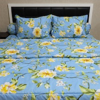 Sleep Buddy Set Sprei Dan Bed Cover Osaka Blue Cvc 160X200X30