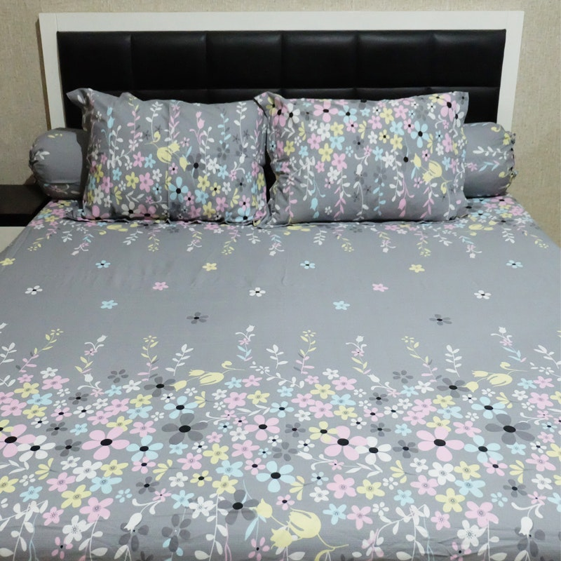 Sleep Buddy Set Sprei Grey Valerie CVC 160x200x30