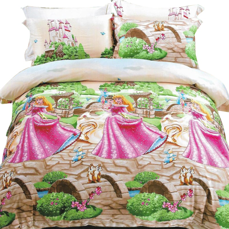 Sleep Buddy Set Sprei dan bed cover Princess Sutra Aloe vera 120x200x30