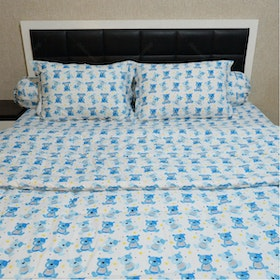 Sleep Buddy Set Sprei Dan Bed Cover Little Bernard Cvc 160x200x30