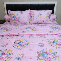 Sleep Buddy Set Sprei Dan Bed Cover Pink Sapporo Cvc 160x200x30
